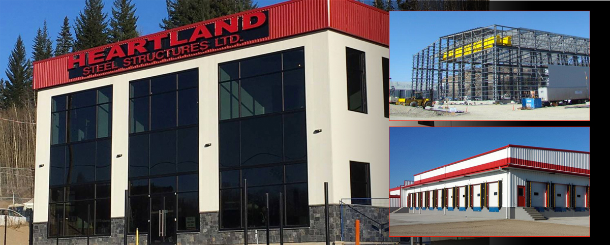 heartland collage of structures, Steel Buildings BC