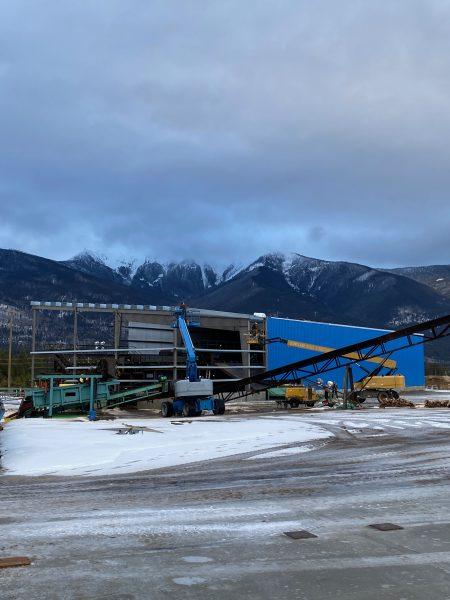 Sawmill in Valemount, construction in progress
