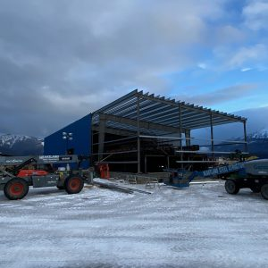 Sawmill in Valemount, Construction in progress